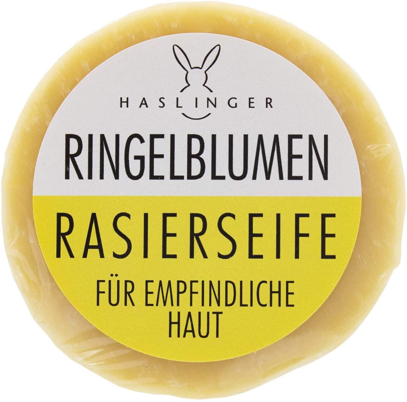 HASLINGER Ringelblumen Rasierseife, 60 g Hergestellt in Österreich 1802